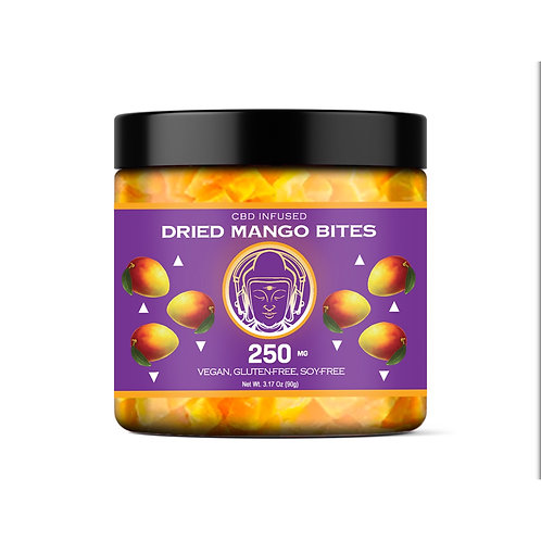 BBB CBD-Infused Dried Mango Bites (250mg)