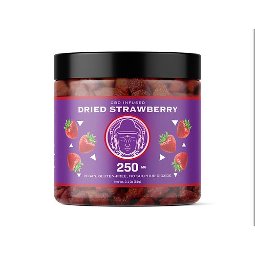 BBB CBD-Infused Dried Strawberries (250mg)