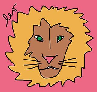Leo the Lion / Spoonflower.com