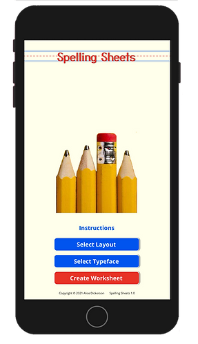 Spelling Sheets 1.0 - Avail in App Store