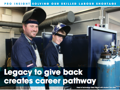 Legacy to give back creates career pathway