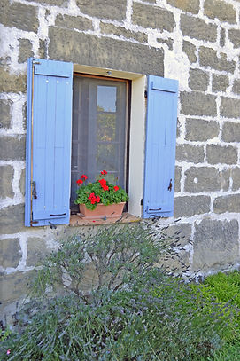 pretty window box of French farmhouse