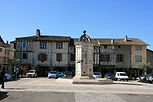 market square Eymet in Dordogne