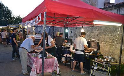 Food stalls at night market France