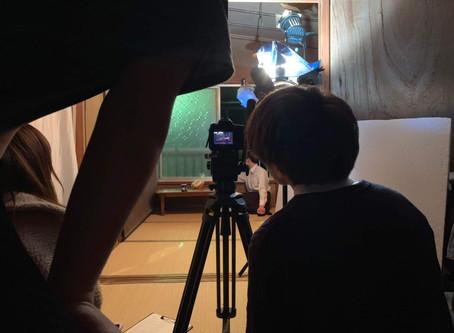 自主映画の撮影。