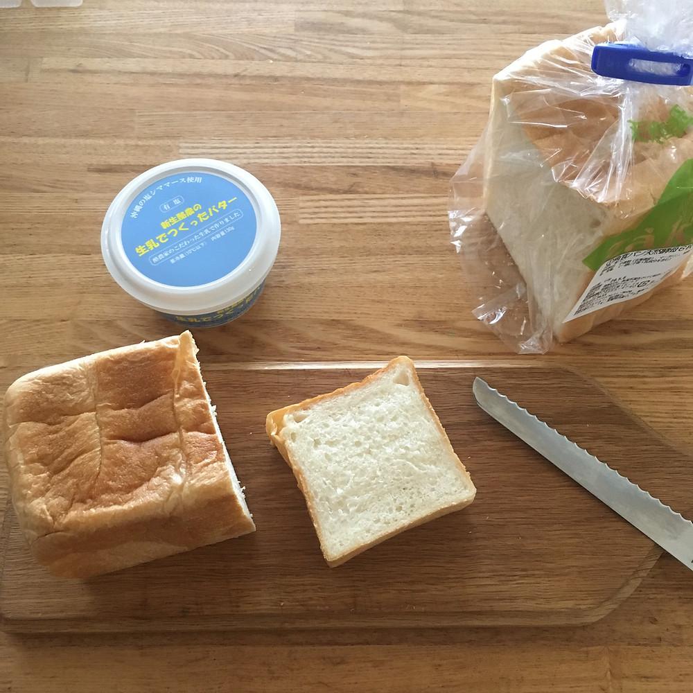 colomさんの各食パンでバタートースト試作中。