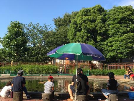 釣り@隅田公園。