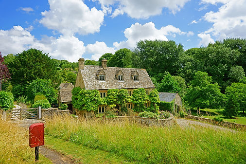A beautiful English country cottage with