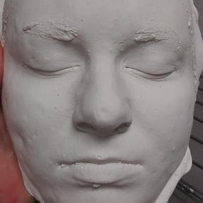 Finished Hydrocal Bust