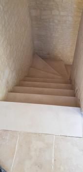 APRÈS Escalier - Ferme du Hôme - Varaville