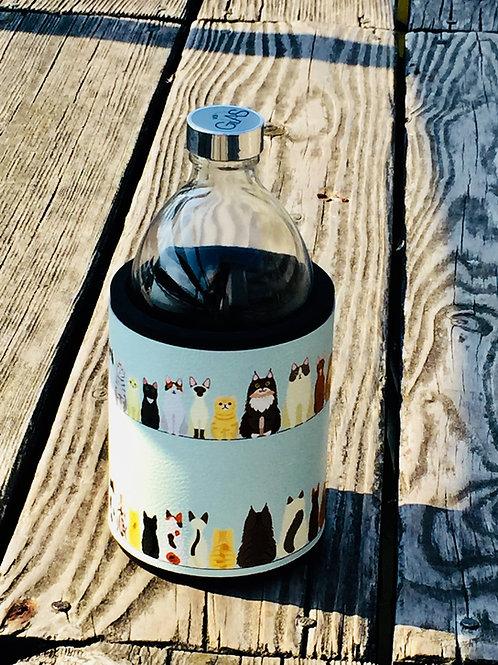 Glastrinkflasche CATWALK 0,54l  Produktlinie Animals