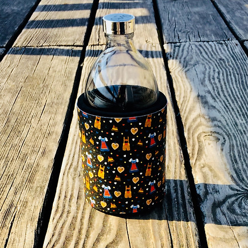 Glastrinkflasche LEDERHOSEN DIRNDLN 0,54l VOIGLAS Produktlinie I love Austria