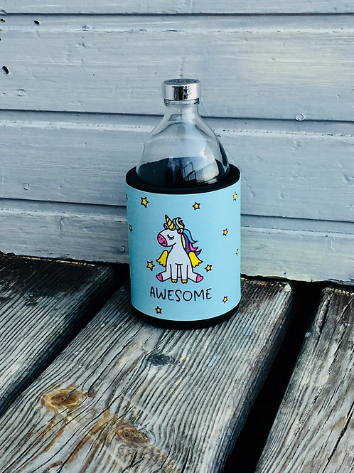 Glastrinkflasche AWESOME Einhorn 0,54l Produktlinie Dream On