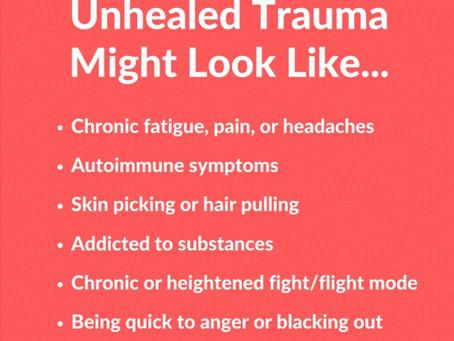 Some symptoms of Trauma