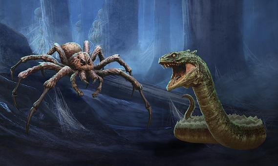 Aragog and Slytherin's Basilisk