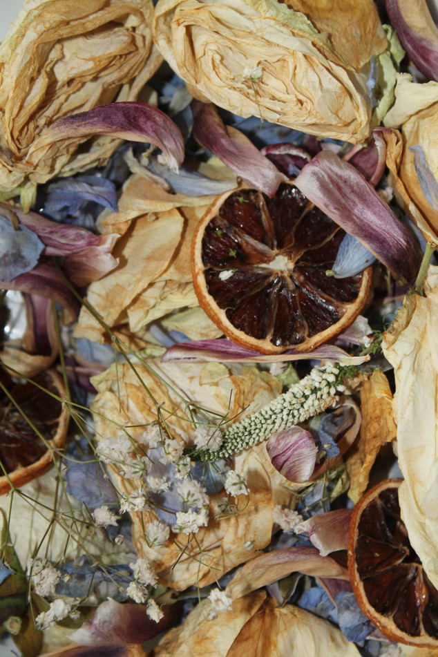 Homemade Potpourri with flowers