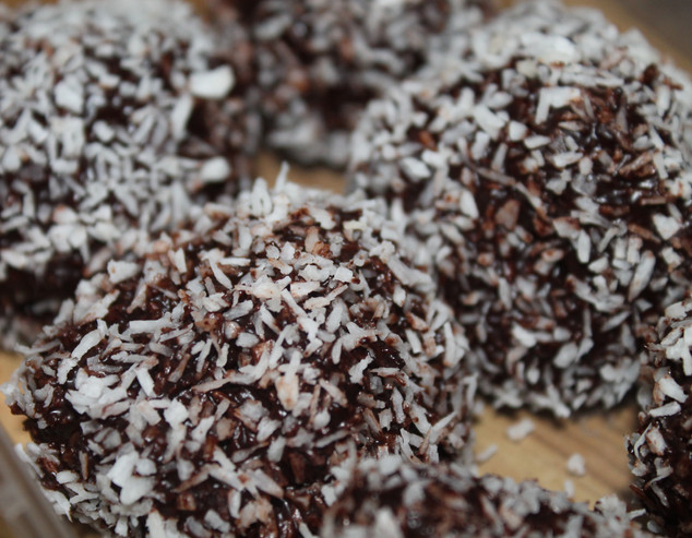 Raw Chocolate Coconut Truffles