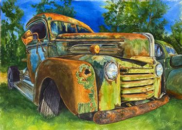 CunningKathleen_Old Green Ford.jpeg