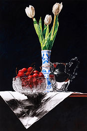 Tulips, Crystal, Silver and Dutch Vase 2