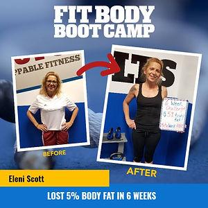 Eleni Scott Lost 5 percent Body Fat in 6