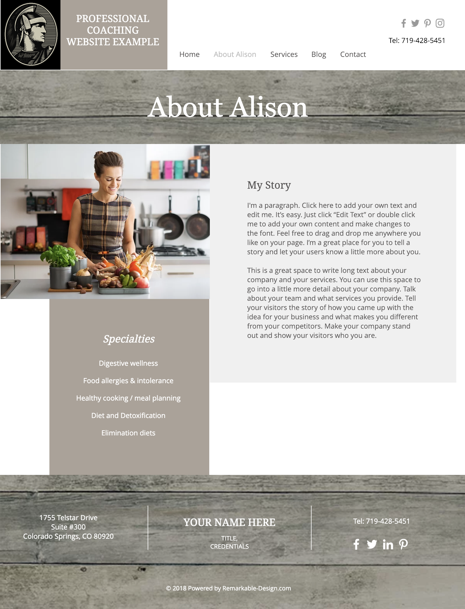Cream w Sugar Website design