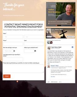Custom contact website form