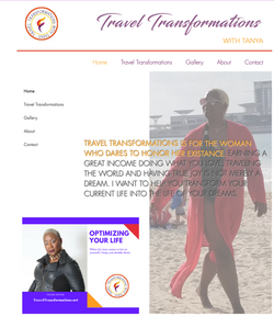 Bright, colorful website