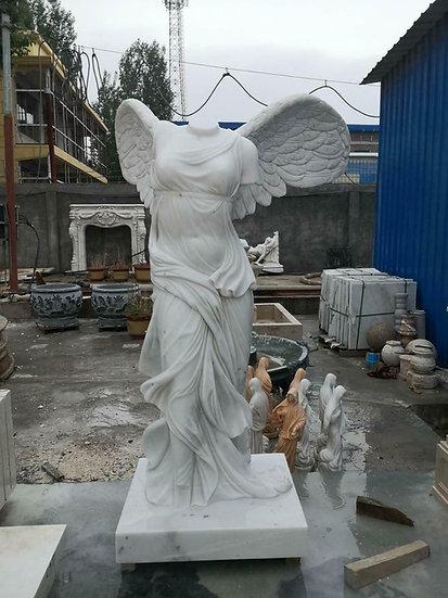 Marble Winged Glory Of Samothrace Statue