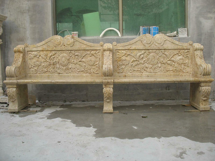 Marble Carved Bench
