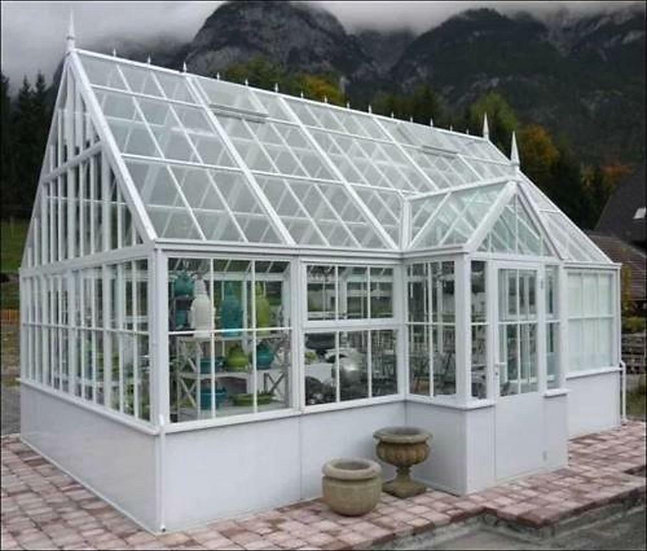 Tubular Steel Victorian Style Gazebo - Greenhouse