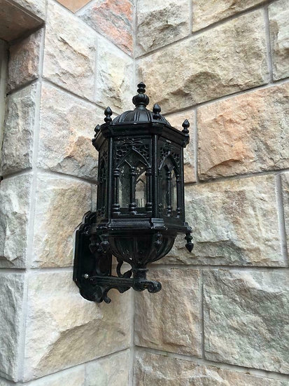 Cast Iron Gothic Style Wall Sconce