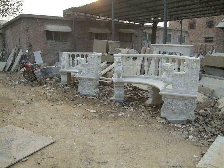 Marble Carved Benches