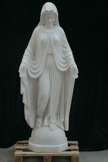 Marble Mother Mary Statue