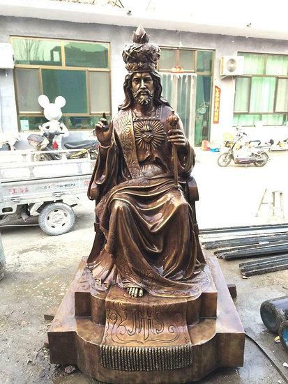 Bronze Sitting Jesus Statue
