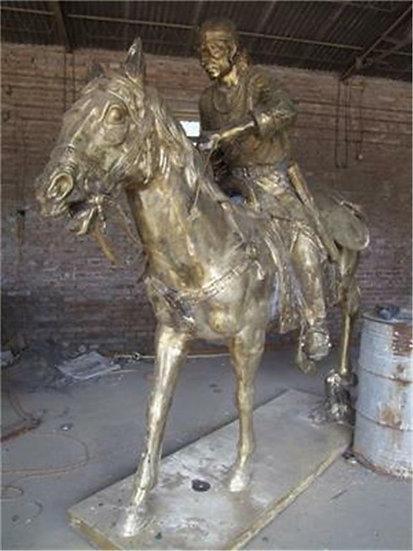 Life size Bronze Samurai on a Horse