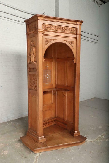 Oak Carved Gothic Confessional