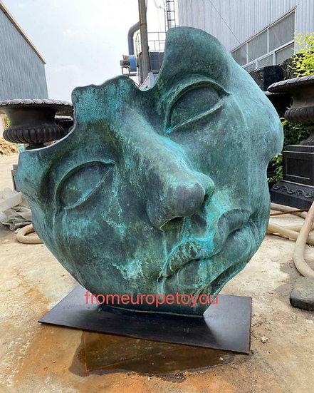 Bronze Modern Face Statue