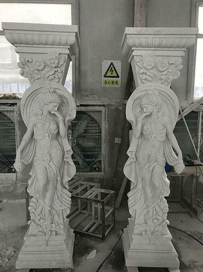 Art Nouveau Style Marble Columns
