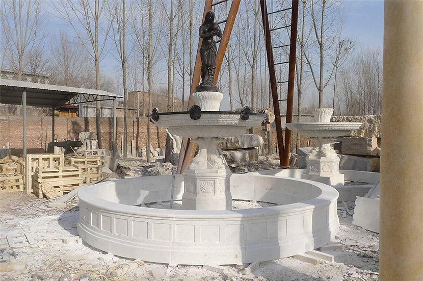 Bronze Figurative Marble Fountain