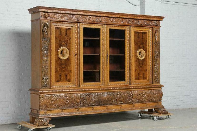 German Carved Bookcase