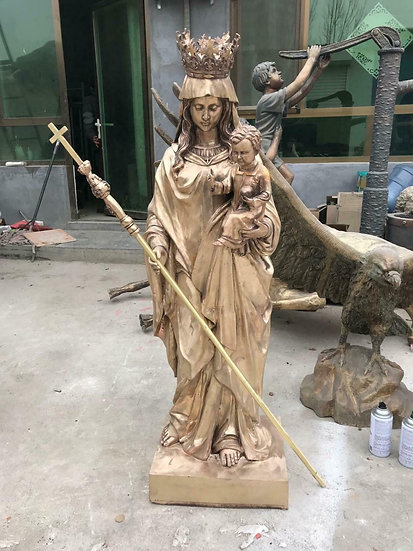 Bronze Mother of Mary  Statue