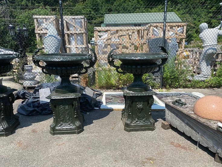 Victorian Style Cast Iron Urns