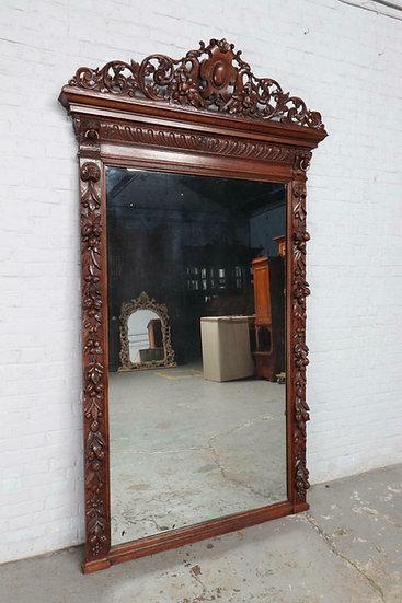 Carved Oak Hunt Mirror