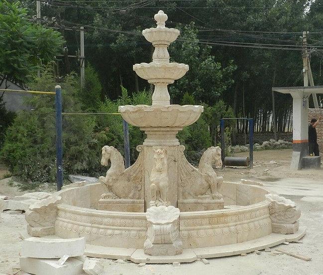 Marble Horse Fountain