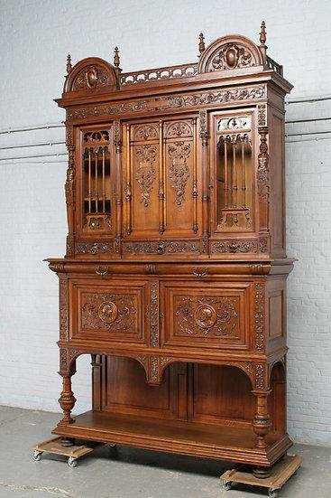 Carved Walnut Antique  Cabinet
