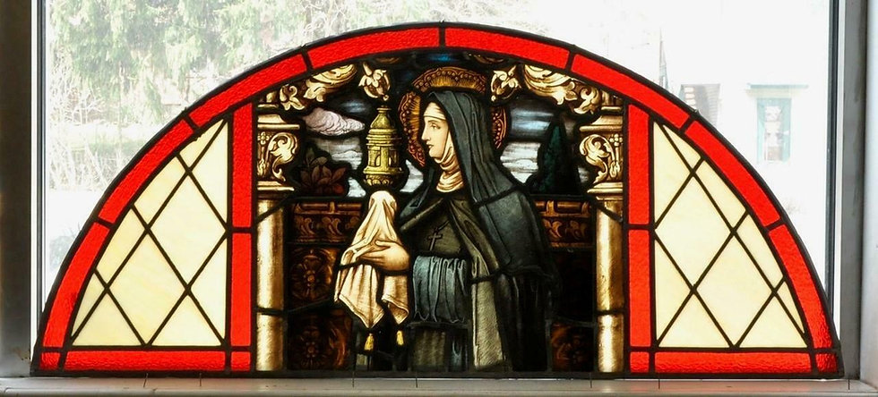 Mayer of Munich St. Claire of Assisi Stained Glass Window
