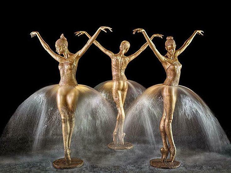 Bronze Ballerina Fountain