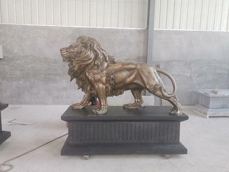 Bronze Standing Lions
