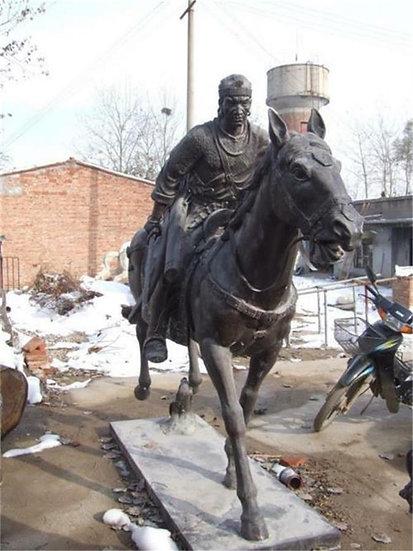 Life size Bronze Warrior Rider on a Horse