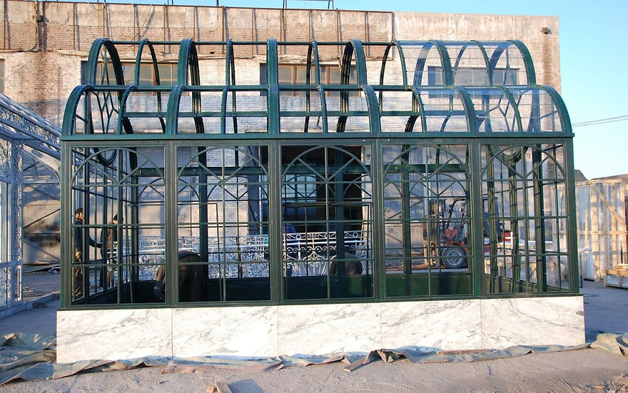 Iron Greenhouse with Marble